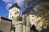 view of Karlstejn castle in Czech Republic