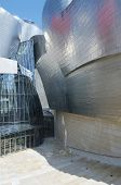 BILBAO, SPAIN - JULY 30: Guggenheim Museum on July 30, 2011 in Bilbao, Spain. This Museum is dedicated  exhibition of modern art and was  designed by architect Frank Gehry.