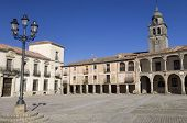 view of the square of Medinaceli, Soria, Castilla Leon, Spain