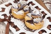 foto of cream puff  - Profiteroles - JPG