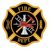 stock photo of fire  - Fire department or firefighter - JPG