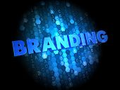 Branding on Dark Digital Background.
