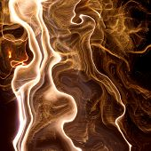 Golden Glowing Abstract Background.