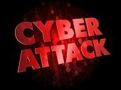 Cyber Attack on Dark Digital Background.