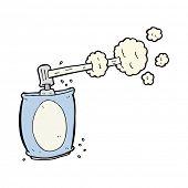 Cartoon Spraydose aerosol