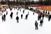 Skating Rink In Gorky Central Park, Moscow