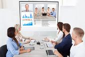 Business Team Attending Video Conference