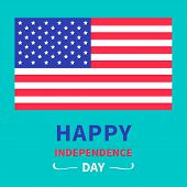 Happy independence day United states of America. 4th of July. Card