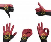 Hand Set With The Flag Of Angola