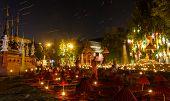 Thai Tourist At night Temple