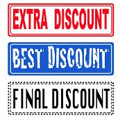 Extra, Best, Final Discount Stamp