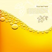 Foamy beer vector background