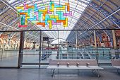 Restored And Redeveloped St Pancras International Rail Station And The Chromolocomotion