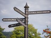 Steet signs in Snowdonia, Wales