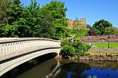 Footbridge over river Tame, Tamworth.