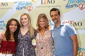 LOS ANGELES - JUN 14:  Lysa Heslov, Grant Heslov, Daughters at the Children Mending Hearts 6th Annua