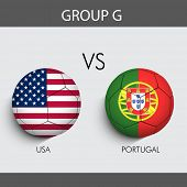 Group G Match U.S.A v/s Portugal countries flags