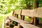 Benches Of Wooden Trunk