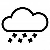 Weather Web Icon With Cloud And Snow