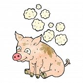 picture of smelly  - cartoon smelly pig - JPG