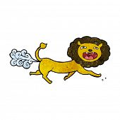 stock photo of farting  - cartoon farting lion - JPG