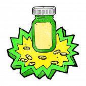 cartoon jar of pills
