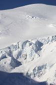 Glacier in Mont Blanc Massif, Chamonix, Alps, France
