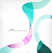 Colorful swirl wave lines background with dot texture