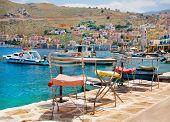 Picturesque island of Symi, Greece