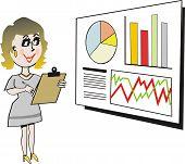 Woman business executive cartoon