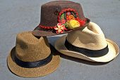 picture of panama hat  - A fedora and panama hats with traditional fits - JPG