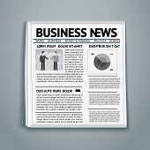 stock photo of brainwashing  - vector newspaper with business news - JPG