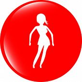 Fashion Yoga Fitness Model Illustration, Sign, Symbol, Button, Badge, Icon
