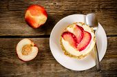 Cheesecake Mini With Peaches