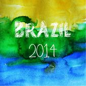 Brazil Summer. Vector Water Color Background