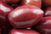 Close-up of a purple olive