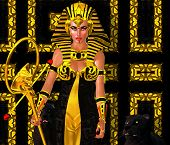 Egyptian Woman Pharaoh with black panther.