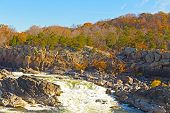 Great Falls National Park in autumn Virginia USA