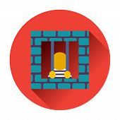 stock photo of prison uniform  - prisoner icon ftat  vector trendy illustrations isolated - JPG
