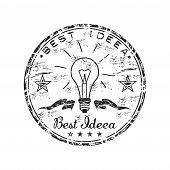 Best idea grunge rubber stamp
