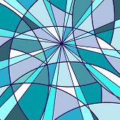 Mosaik blau Hintergrund