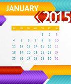 Vector 2015 Calendar January