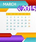 Vector 2015 Calendar March