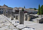 The Extensive Roman Ruins At Vaison-la-romaine, Provence, France.