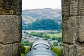 picture of artillery  - Point of view of heavy artillery from a place dominant the valley