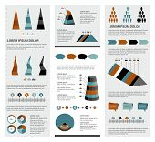 Collection of infographics elements. Set template.