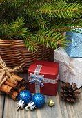Christmas Trees With  Gift Box