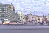 Moscow. Square Ilinskie Vorota