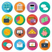 Icon set for finance, investment management