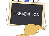 Illustration: Doctor Shows Information: Prevention